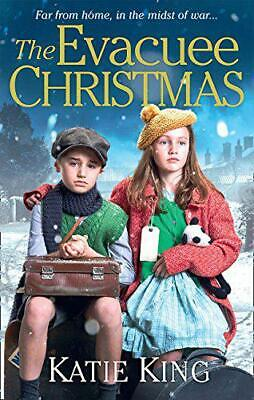 The Evacuee Christmas by King, Katie, Good Used Book (Paperback) FREE & FAST Del