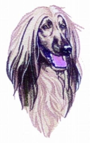 Large Embroidered Zippered Tote - Afghan Hound BT3416