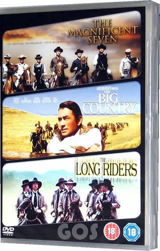 The Magnificent Seven Big Country Long Riders Boxset Collection 3 DVD Films New