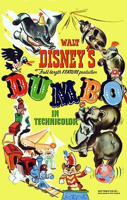 Disneyland 1941 Dumbo Repro Movie Poster Disney - Buy Any 2 Get 1 Free
