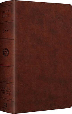 Esv Large Print Personal Size Bible   Soft Leather Look  Chestnut