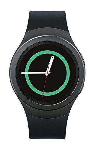 Samsung Gear S2 Smartwatch 42mm Stainless Steel Black Elastomer SM-R7200ZKAXAR