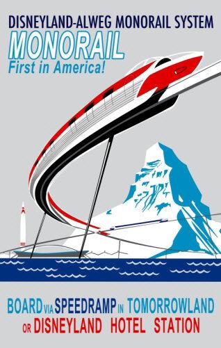 Disneyland Monorail 11X17 Poster Disney Fantasyland