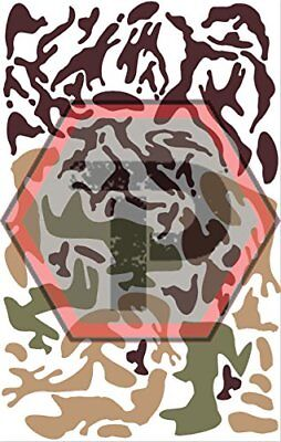 woodland camo stencil for cerakote, gunkote, duracoat Avery paint mask sticky ba, used for sale  Clearfield