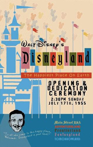 1955 Disneyland Opening Day 11X17 Poster - Walt Disney Reagan