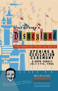 1955 Disneyland Opening Day Poster - Walt Disney Reagan  Buy Any 2 Get 1 FREE