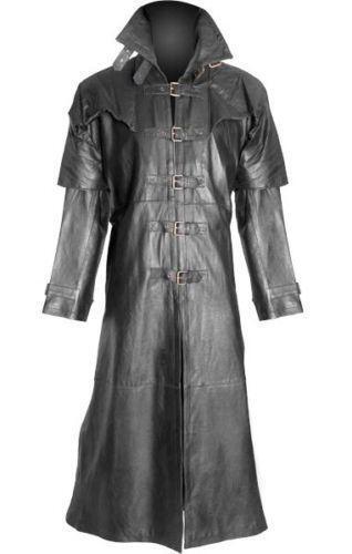 Gothic Leather Trench Coat | eBay