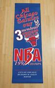 Chicago Bulls Championship Banner