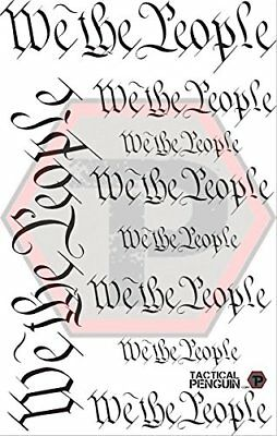We The People stencil for cerakote, gunkote, duracoat Avery paint mask sticky ba for sale  Clearfield