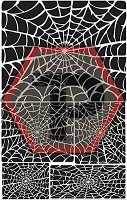 spider web 2 stencil for cerakote, gunkote, duracoat Avery paint mask sticky bac](Sticky Web)