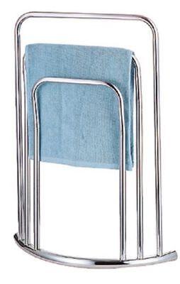 STYLISH CHROME CURVED FLOOR 3-TIER FREE-STANDING BAR TOWEL STAND SHELF UK (3 Tier Curved Shelf)