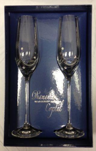 Swarovski crystal champagne glasses ebay - Swarovski stemware ...