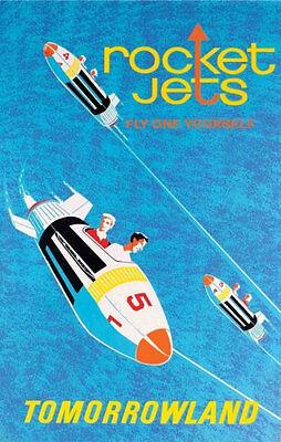 Disneyland Rocket Jets Ride Poster Disney Tomorrowland - Buy Any 2 Get 1 Free