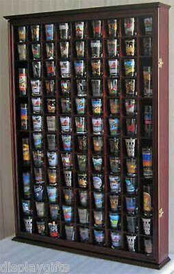 Large 100 Shot Glass Display Case Wall Mounted Cabinet Sh...