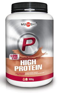 MUSASHI P High Protein Powder Low Fat 900g Iced Chocolate WPI & WPC BCAA