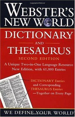 Websters New World Dictionary And Thesaurus  2Nd Edition  Paper Edition  By The
