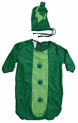Green Pea Costume (Fun World Green Sweet Pea Pod Bunting Baby Costume)