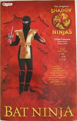 Bat Ninja Costume Boys Halloween Size 4 to 6 - New!