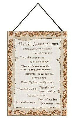 - The Ten Commandments ~ Christian Tapestry Bannerette Wall Hanging