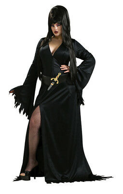 Sexy Elvira Gothic Adult Plus Size Womens Costume 14-16 (Gothic Halloween Costumes Plus Size)