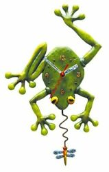 Allen Designs Frog Fly Clock New/Boxed as Wall with Dragonfly Pendulum