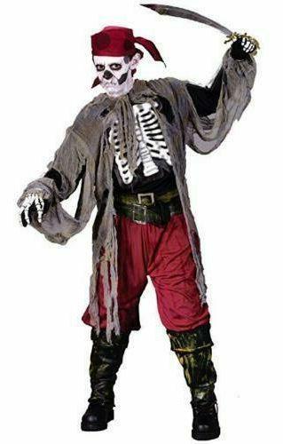 Medium Youth size M 8-10 Buccaneer bones Pirate Skeleton Halloween Costume