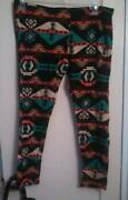 Plus Size Tribal Leggings