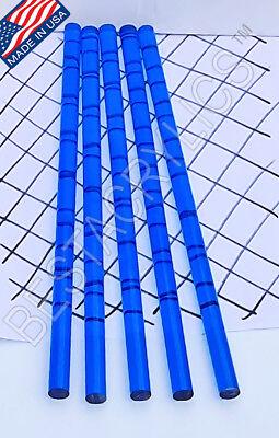 5 Clear Blue Translucent 12 Diameter Acrylic Plexiglass Color Rod 12 Long .50
