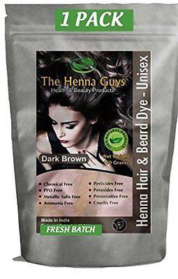 THE HENNA GUYS® ORGANIC HENNA HAIR DYE/COLOR  FOR MEN&WOMEN 100% CHEMICAL FREE
