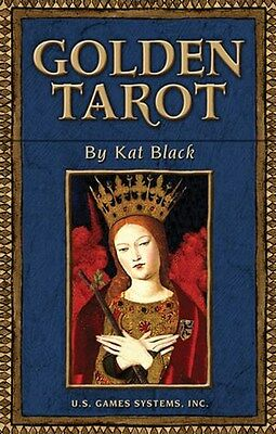 NEW Golden Tarot Cards Deck Kat Black
