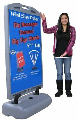 61 X 30 Wind Frame Sandwich Board Sidewalk Sign With 2 - 28 X 44 Panels Usa