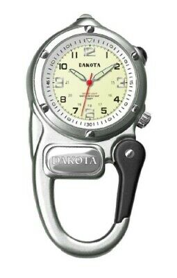 NEW Dakota Watch Company 3807-9 Mini Clip Microlight Clip-On Silver Timepiece (Dakota Watches Mini Clip)