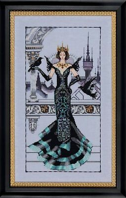 """SALE! COMPLETE XSTITCH KIT """"THE RAVEN QUEEN MD139"""" by Mirabi"""