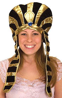 Adult Unisex Egyptian Headpiece God Goddess Pharaoh Costume Womens Mens NEW
