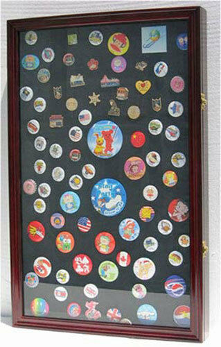LARGE Display Case Shadow Box for  Lapel Pin Medal Patches Ribbon Beach Tags