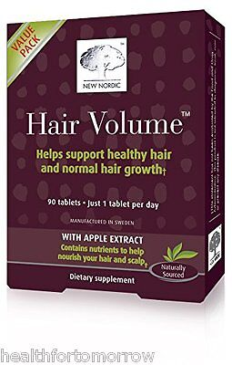 New Nordic Hair Volume Tablets, 90 Tabs - Expire Date: 02/2019 -BIG SIZE