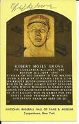 Lefty Grove Signed