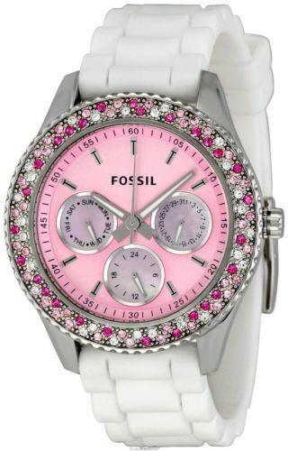 pink fossil stella watch ebay