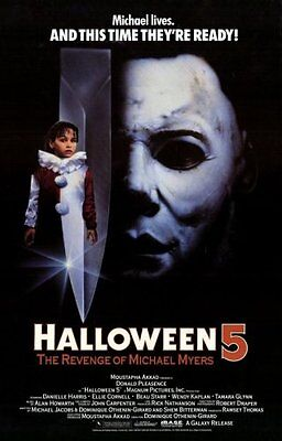 HALLOWEEN 5 Movie Poster [Licensed-NEW-USA] 27x40