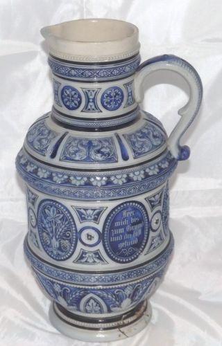 German Pottery Jug Ebay
