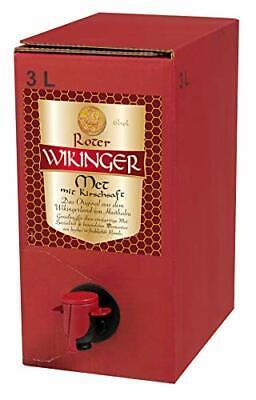 Original Wikinger Met | Roter Met | Honig Wein Bier Likör Sekt 3L dunkel