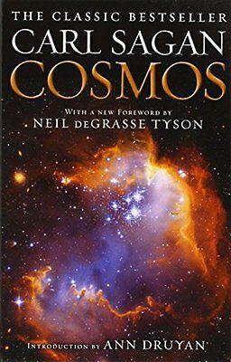 Cosmos By Carl Sagan   Paperback   Ballantine Books   New  Free Shipping