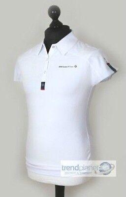 BMW Sauber F1 Team Damen Poloshirt Polo Shirt T-Shirt kurzarm weiß Gr. M - NEU