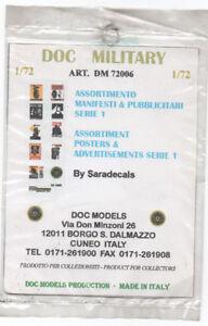 DOC MODELS 72006 Assortimento manifesti pubblicitari scala 1/72 - Italia - L'oggetto può essere restituito - Italia