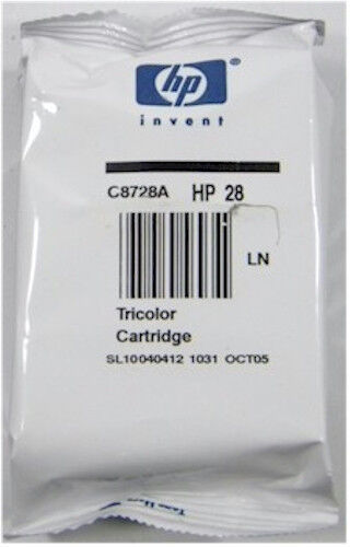 Genuine NEW HP 28 (C8728A) Tri-color Ink Cartridge *OCTOBER 2005*