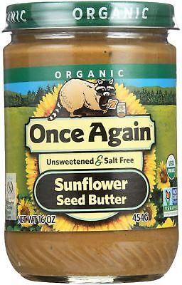 Once Again Organic Sunflower Seed Butter 16 oz Sunflower Seed Butter