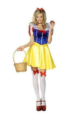 Snow White Costume Sexy Woman Dress Set for Halloween Cosplay Party Adult Size - White Dress For Halloween Costume