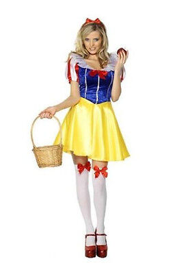 Snow White Costume Sexy Woman Dress Set for Halloween Cosplay Party Adult Size (Halloween Costume White Dress)