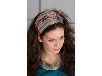 BRAND NEW Stonewashed multi coloured cotton headband