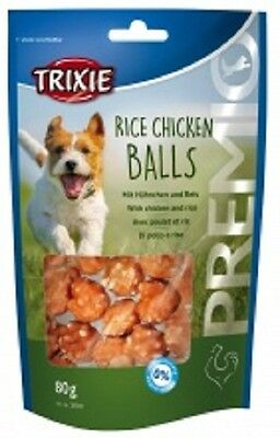 Trixie Rice Chicken Balls Dog Puppy treats No Added Sugar 80g x 2